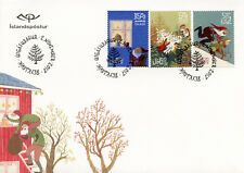 Iceland 2017 FDC Christmas Father Christmas Trees 3v S/A Set Cover Stamps
