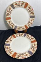 """Queens Imari (2) Dinner Plates, 10 3/4"""""""