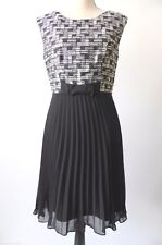 REVIEW rrp $279.95 Size 10  US 6 Sleeveless Pleated Dress
