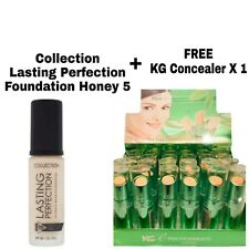 COLLECTION LASTING PERFECTION FOUNDATION HONEY 5 & FREE KG CONCEALER x 1