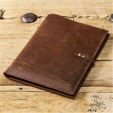 "2021 iPad Pro 12.9"" Leather Case Handmade Genuine Leather Folio Smart Cover"