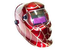 RED  SPIDER  WEB AUTO DARKENING WELDING HELMET SOLAR ARC MIG MAG WELDER MASK