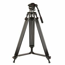 New Kenro Twin Tube Pro Video Tripod with Fluid Action Head and Case - KENVT103