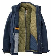$298 NWT TIMBERLAND MEN'S 3-IN-1 WATERPROOF FIELD JACKET Hooded A1AIF433 Navy. L
