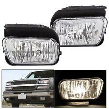 For Chevy Silverado 03-06 1500/2500/3500 Bumper Driving Fog Lights + Bulbs 04 05