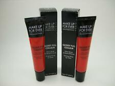 MAKE UP FOR EVER NIB LOT OF 2 SHADE 1 RED FULL COULEUR EXTREME SHINE LIP GLOSS