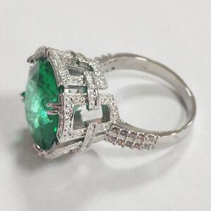 Gorgeous Cubic Zirconia 925 Silver Wedding Engagement Jewelry Women Rings Sz6-10