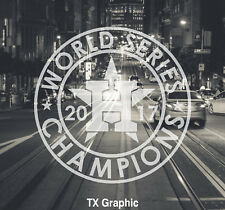 Houston Astros 2017 World Series Champions Decal Sticker Champs Circle