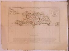 Haïti Hispaniola Saint-Domingue Carte map rare 1801
