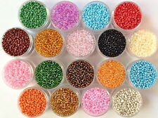 2mm Rocaille Seed Beads 40 grams 100 grams 18 colours Opaque Trans Silver Lined