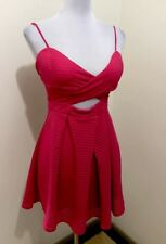 Ladies ANGEL BIBA Fuchsia Cut Out Dress. Size 8-10. EUC