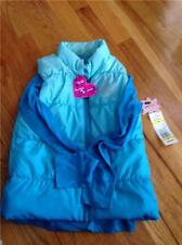 Girl Grane Peace Sign Puffer Vest Set Blue Size Medium  NWT
