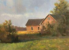 Shane Harris Original Oil Painting Impressionist Abstract Landscape Farm Vermont