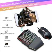 K99 Bluetooth 4.2 wireless one-handed game keyboard+throne mouse set LED backlit