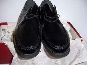 ET Wright Vintage 10.5 C Walker Handsewn Vibram Sole Italy Lace-Up Black *NWT*
