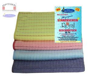 4er Set Aqua Clean Sonnenschein Geschirrtücher Royal - tolles Geschenk