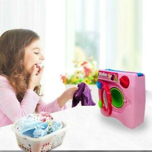 Mini Simulation Washing Machine Toys Kids Play Realistic Spinning Wash Gift Toy