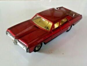 Vintage Dinky Pontiac Parisienne 173 VGC Metallic Red 1969-72 - working aerials