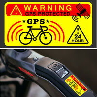 3 X Dont Touch My Bike GPS Tracking Alarm Warning Sticker Bicycle Transparent
