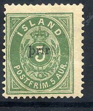 ICELAND 1897 3a. on 5a. surcharge Type II word only LHM / *