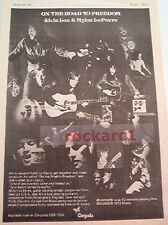 "TEN YEARS AFTER Alvin & Mylon Le Fevre 1973 UK Poster size Press ADVERT 16x12"""