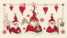 Chrisrmas Cross Stitch Pattern,DMC ,Cheerful Santas,Chart