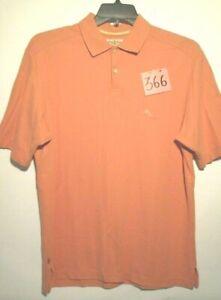 Mens Tommy Bahama M Short Sleeved Peach Polo Shirt *GOTTA SEE IT!*