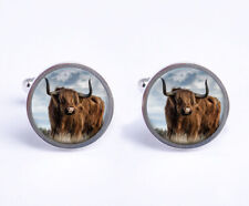Highland Cow Cattle Mens Cufflinks Ideal Wedding Birthday Fathers Day Gift C514