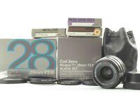 """""""MINT w/ Box""""  Contax Carl Zeiss Biogon T* 28mm f/2.8 BLACK set G1 G2 Japan"""
