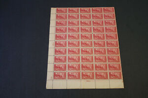 #618 1925 2c LEX-CONCORD, Mint BOTTOM LEFT SHEET OF 50- PLATE FINISHERS INITIALS