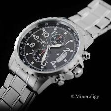 Invicta Specialty Chronograph Black Dial Silver Tn SS Tachymeter 45mm Mens Watch