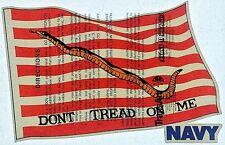 Original Vintage Don't Tread On Me Navy Iron On Transfer