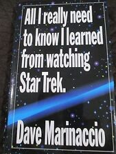 All I really need to know I learned from watching Star Trek hardcover with d/j