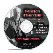 Winston Churchill Addresses Speeches, 923 Old Time Radio Broadcasts WWII DVD G62