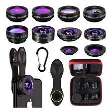 10 In 1 Wide Angle,FishEye,Macro Clip Phone Camera Lens KitFor Universal Mobile