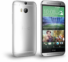 """HTC One M8 AT&T Unlocked 4G LTE GSM 32GB 5"""" Android Smartphone Silver Used"""