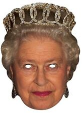 Queen Elizabeth II Royal Majesty Single Card Face Mask  Sovereign Fun Party