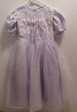 Girls Original purple taffeta dress with lace over lay brand new size 14