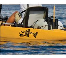 x2 stickers for kayak fish vinyl decal canoe sticker