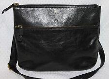 Fossil Black Leather 1954 Shoulder or Crossbody Handbag Purse REDUCED