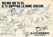 PUBLICITE ADVERTISING 035  1982  ELM LEBLANC   chaudières murales ( 2p) par