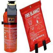950G DRY POWDER FIRE EXTINGUISHER WITH FIRE BLANKET HOME KITCHEN CAR CARAVAN
