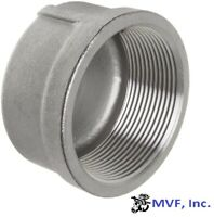 "1/2"" 150# Threaded (NPT) Pipe Cap 304 Stainless Steel Fitting <SS060441304"