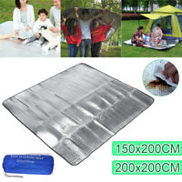 Double Side Picnic Pad Aluminum Foil Sleeping Mat Outdoor Camping Waterproof