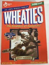 Jackie Robinson Brooklyn Dodgers 50th Ann Wheaties Cereal Box