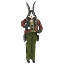 Rabbit Ornament Posable Green Suit Glasses Raz Forest Frost fo 3202454 NEW
