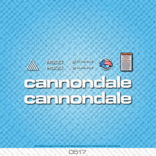 Cannondale R500 Bicycle Decals - Transfers - Stickers - White - Set 0517