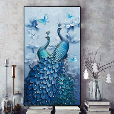 DIY 5D Diamond Painting Rhinestones Peacock Mosaic Full Kit With Tools for Decor