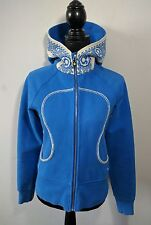 Limited Edition Lululemon Scuba Hoodie 6 Blue White Dance Sing Floss Travel
