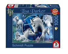 NEW SCHMIDT Puzzle 1000 Tiles Pieces Jigsaw Lisa Parker Charming Unicorns